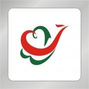爱心凤凰标志 创意凤凰变爱心logo标志