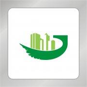 绿色房产标志 翅膀logo