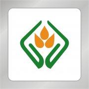 手捧麦穗标志 农产品标志