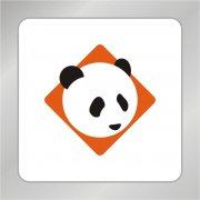 可爱熊猫头标志 动物标志