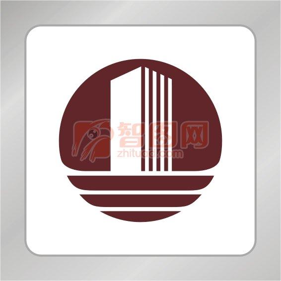 建筑标志 楼房建筑 房产logo