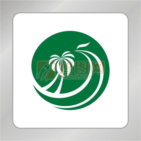 【cdr】半圆形凤凰卡农椰子树字体椰树凤凰设计标志标志标志果园组合