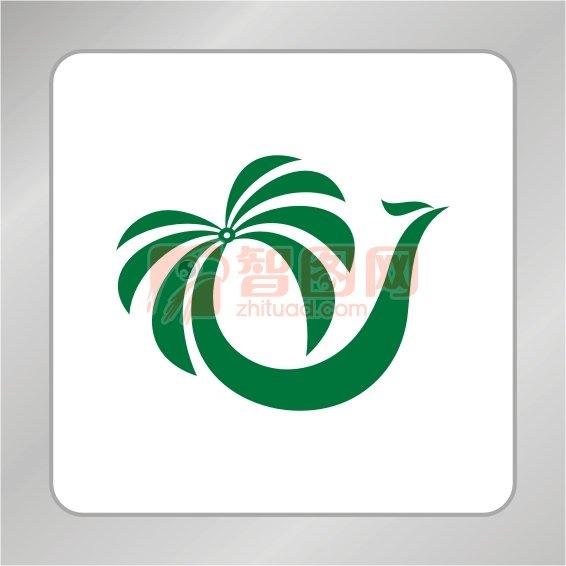 凤凰头椰子树组合标志 椰子树标志 下一张图片:半圆形凤凰标志 椰子树