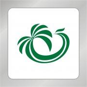 鳳凰頭椰子樹組合標志 椰子樹標志