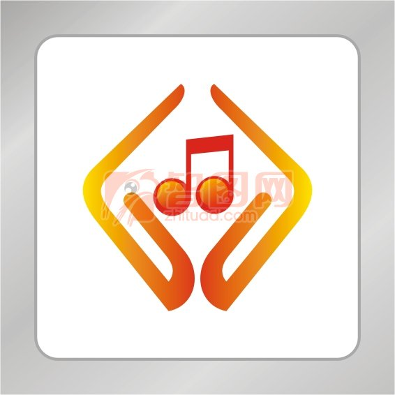 【cdr】音乐创作标志 手捧音乐符号