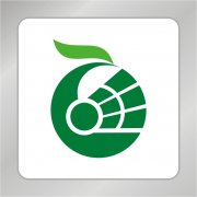 羽毛球运动标志 凤凰标志