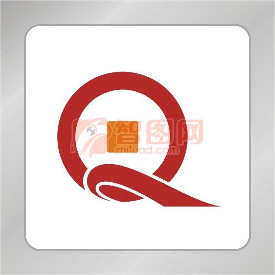 Q字母金币组合标志 金融金币标志