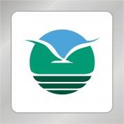 飞雁标志 翱翔大雁标志 山水城市旅游标志