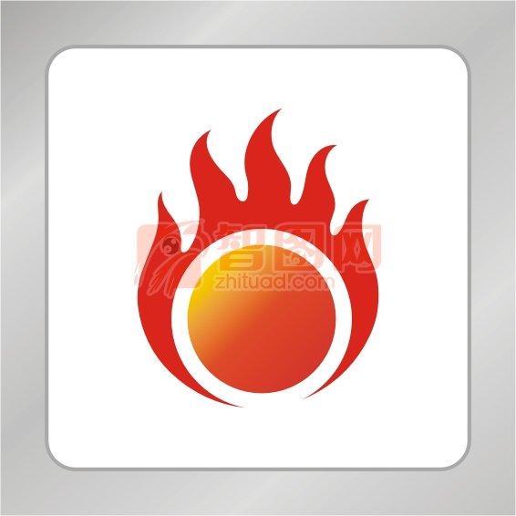 太阳火苗标志 网络标志