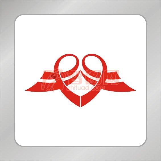 红色爱心慈善标志 希望投资标志