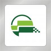 绿色科技标志 半圆图形