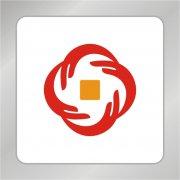 手连手志愿金融标志 投资标志