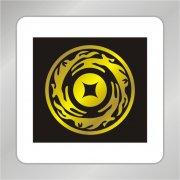 龙组合标志 龙组合圆环 金融钱币标志