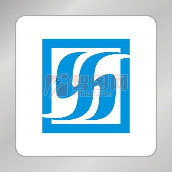 YH字母组合标志 创意H字母标志