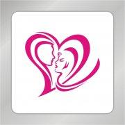 人头爱心标志 美女人头 情侣幸福logo 爱心喜事logo