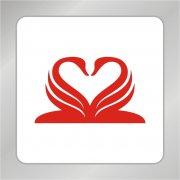 天鹅爱心标志 天鹅组合标志