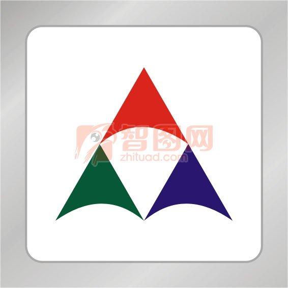 三个三角形车标;; 标志三角形标志; 【cdr】几何图形标志 三角形标志