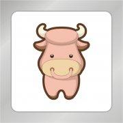卡通牛标志 可爱牛标志