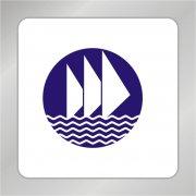 航海船帆标志 船帆 水波浪