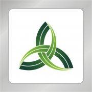 三叶草首尾相连标志 农作物标志