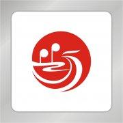 红歌会标志 凤凰音乐符号组合标志