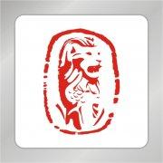 咆哮狮子标志 印章狮子标志