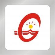 创意G字母标志 光芒 节能灯标志