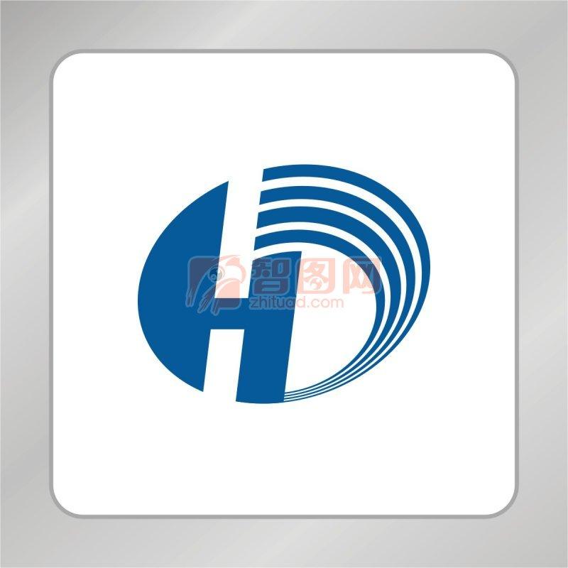 【cdr】线条d字母标志 h字母标志图片