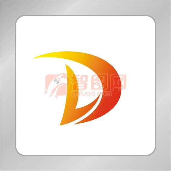 一下��.��/d_【cdr】金色ld字母组合标志 d字母标志