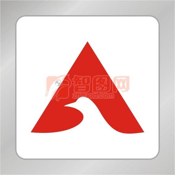 白鸽头标志 字母A标志 动物字母组合标志