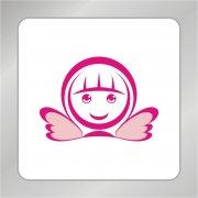 卡通天使女孩 美丽女孩标志