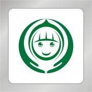 环形双手 儿童标志 关爱儿童