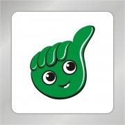 大手拇指人头组合标志 大手拇指标志