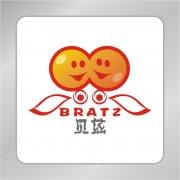 飞翔天使标志 卡通儿童头标志 贝兹奶粉标志