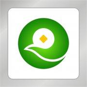 凤凰金币组合标志 金融标志
