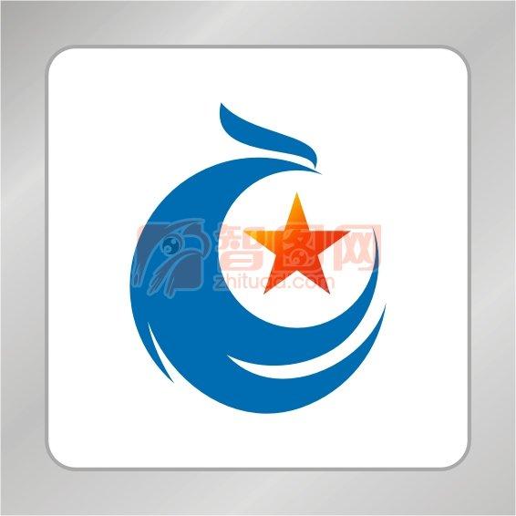 凤凰标志 五角星
