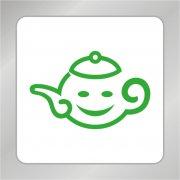 笑脸茶壶标志 卡通茶壶标志