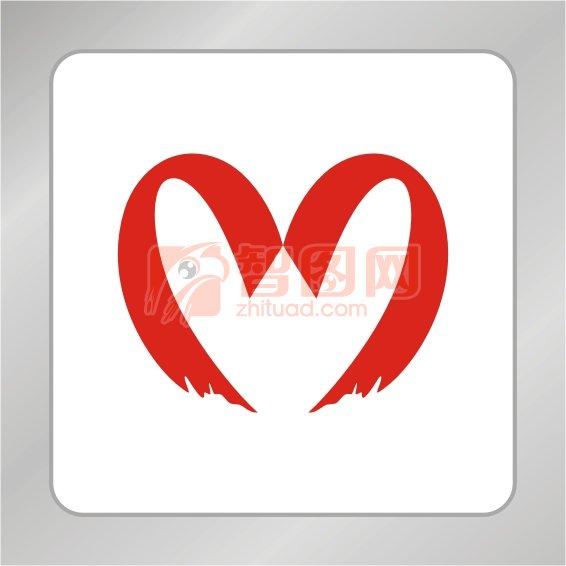 红色爱心标志 慈善组织标志