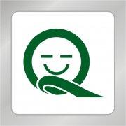 Q字母笑脸标志 Q字母标志 笑脸人头标志