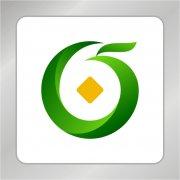 创意绿色凤凰标志 绿叶 金融钱币标志