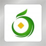 凤凰铜币标志 凤凰标志 绿叶