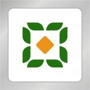 绿色金融标志 绿叶 铜币标志