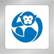 金丝猴标志 可爱猴子标志 敬礼猴子标志