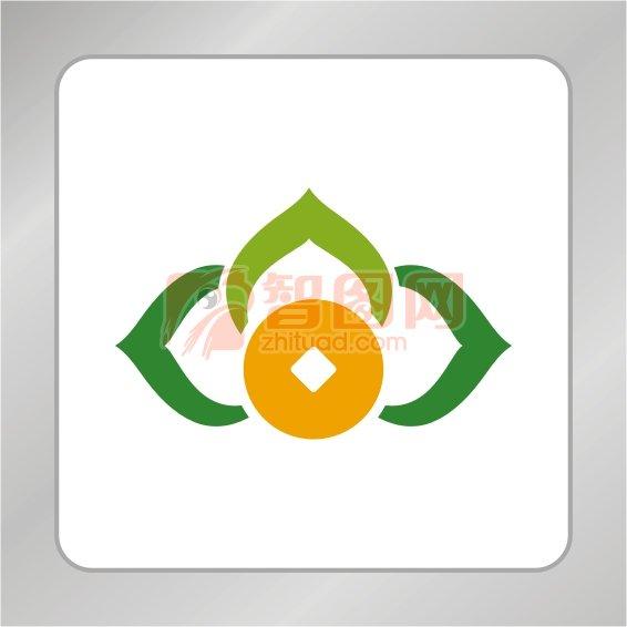 爱心金融标志 爱心绿叶标志