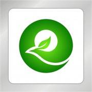绿色凤凰标志 凤凰 绿叶