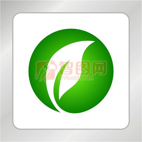 飞跃海豚标志 绿叶标志