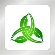 农作物标志 绿叶标志 绿叶相交叉