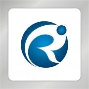 创意R字母标志 圆球标志 叶子R字母