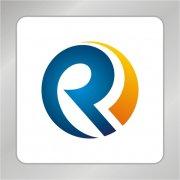 圆环型R字母标志 蓝色R字母