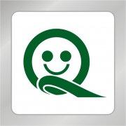 熊猫头标志 Q字母标志